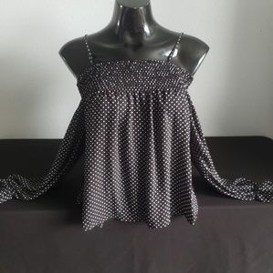 Ultra Flirt Poka Dot Cold shoulder